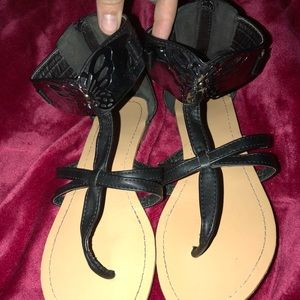 Black Butterfly Sandals